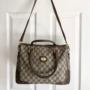 Vintage Gucci Web Boston bag
